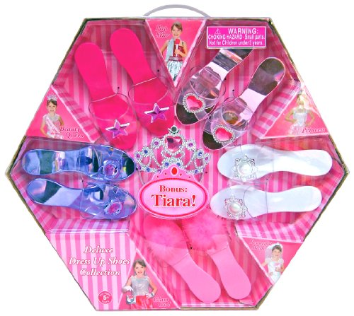 What Kids Want Deluxe Dress Up Shoes Collection (Beauty Queen Fancy Dress)