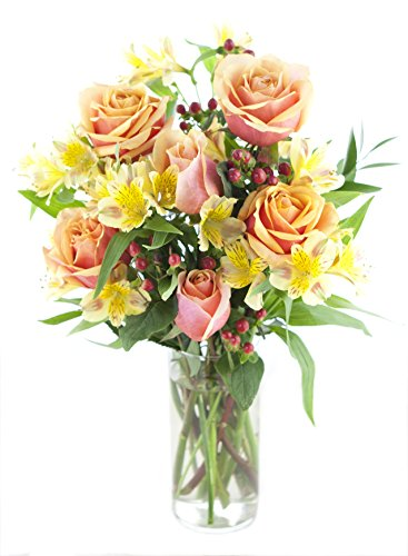Mix And Match Orange Rose & Yellow Alstro Bouquet - With (Amazon Bouquet)