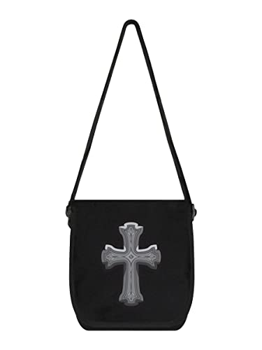 Notebooktaschen Mini-messenger-bag Gothic Cross 19 X 25 Cm Schwarz