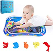 JERXUNY Tummy Time Toy Baby Water Mat Inflatable Play Mat for 3 Months Up Newborn Boy Girl Infants and Toddler