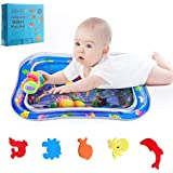 JERXUNY Tummy Time Toy Baby Water Mat Inflatable Play Mat for 3 Months Up Newborn Boy Girl Infants and Toddlers Brain Development Fun Play Activity Center