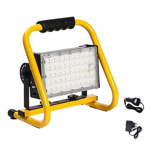 EFGS Foco Lámpara Proyector LED 50W, Luz Portátil para ...