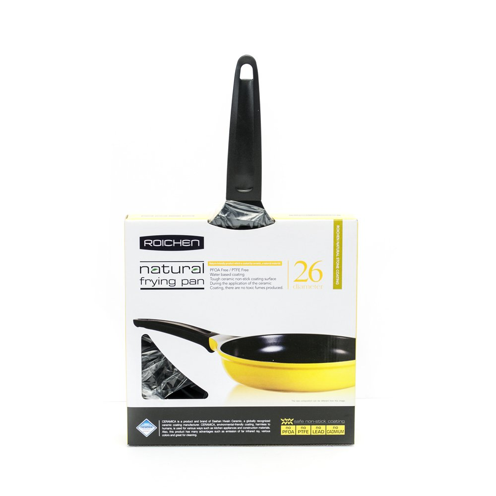 Roichen 10-Inch Frying Pan with Ceramic Non-Stick Coating-100% PTFE and PFO Free
