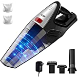 HoLife 8KPA Handheld Vacuum Cordless, 22.2V Powerful Suction Hand Vacuum Cleaner Rechargeable, 100W Stronger Motor, Lightweight Wet Dry Vacuum for Home Pet Hair Car Dust Cleaning