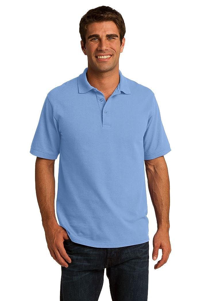 Port /& Company 50//50 Pique Polo Shirt-2XL Light Blue