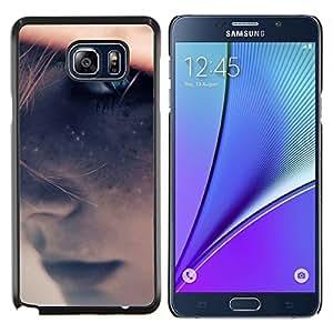 LECELL--Funda protectora / Cubierta / Piel For Samsung Galaxy Note 5 5th N9200 -- Blue Girl Ojo --