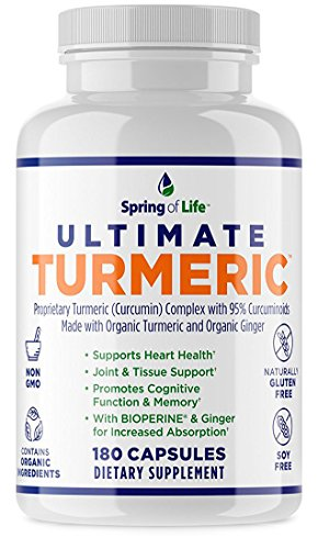 Cheap Spring of Life Ultimate Turmeric Curcumin with Bioperine 1500mg – With 95% Curcuminoids – Extra Strength Formula for Maximum Absorption, Joint Comfort & Mobility – Gluten Free – 180 Veggie Caps