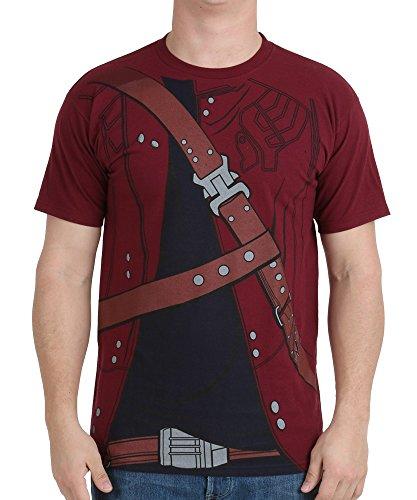 Guardians Of The Galaxy Rocket Starlord Drax Nova Costume T-shirts (XXL, (Marvel Nova Costume)