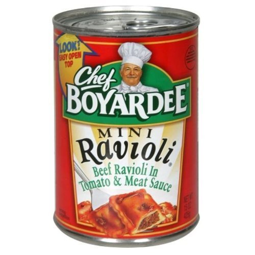 - Chef Boyardee Mini Ravioli 15 Oz (Pack of 6)