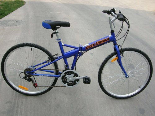 Best savings for Columba 26″ Folding Bike w. Shimano 18 Speed Blue (SP26S_BLU)