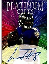 Lamar Jackson Platinum Cuts facs auto autograph football card 1/1000 Baltimore Ravens