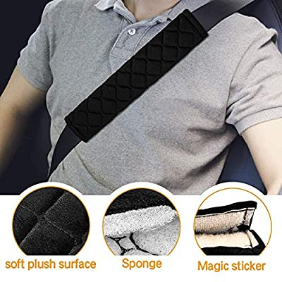 2Pcs Car Seat Belt Cover Pads, Shoulder Seatbelt Pads Cover, Safety Belt Strap Shoulder Pad for Adults and Children(Black): Baby