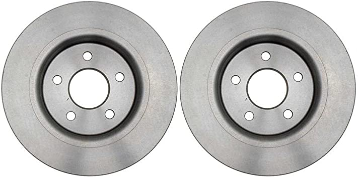 Prime Choice Auto Parts R6121PR Rear Pair 2 Brake Rotors 5 Stud
