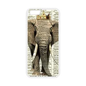 """Elephant Art - Fashion Style For iPhone 6 TPU(Laser Technology) 4.7"""" Material Back Case"""