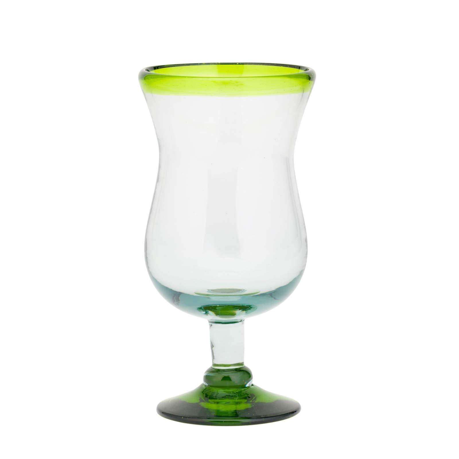 Amici Home 7MCR387S4R Baja Hurricane Drinking Glass 16 Fluid Ounces Lime Rim