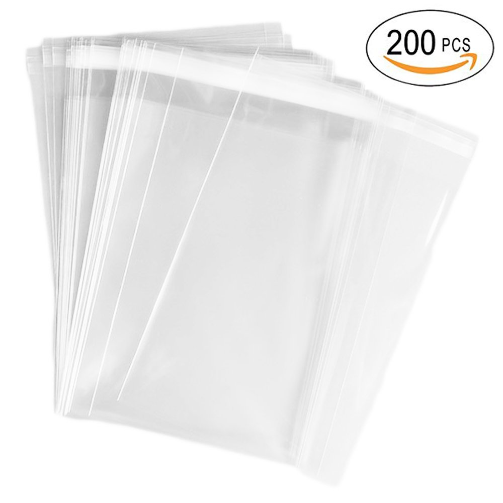 Amazon 5in x 7in flat cellophane bags with adhesive closure airsunny 200 pcs 4x6 clear resealable cello cellophane bags good for bakery candle kristyandbryce Choice Image