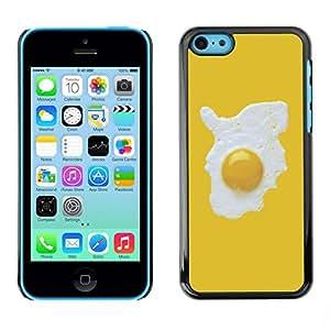 FECELL CITY // Duro Aluminio Pegatina PC Caso decorativo Funda Carcasa de Protección para Apple Iphone 5C // Fried Yellow Minimalist Fashion Chef