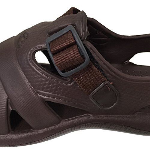 E3A903M Mens Sandals Clogs Straps Water Flip flops Slippers Garden Flats Shoes, Black, Grey, Brown Brown-1