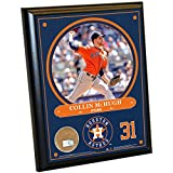 "MLB Houston Astros Collin McHugh Plaque with Game Used Dirt from Minute Maid Park, 8"" x 10"", Navy"