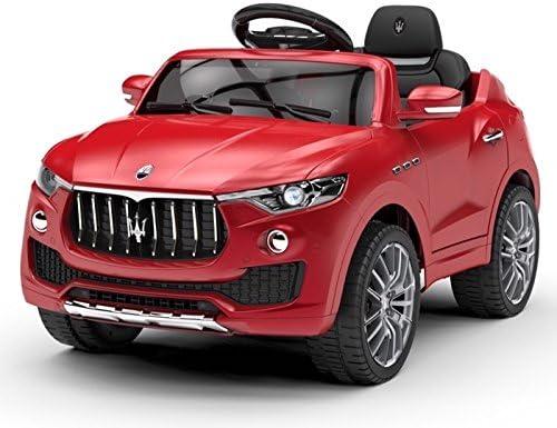 Mondial Toys AUTO ELETTRICA PER BAMBINI 6V 2 MOTORI CON TELECOMANDO SPORTELLI APRIBILI MASERATI LEVANTE SUV ROSSO