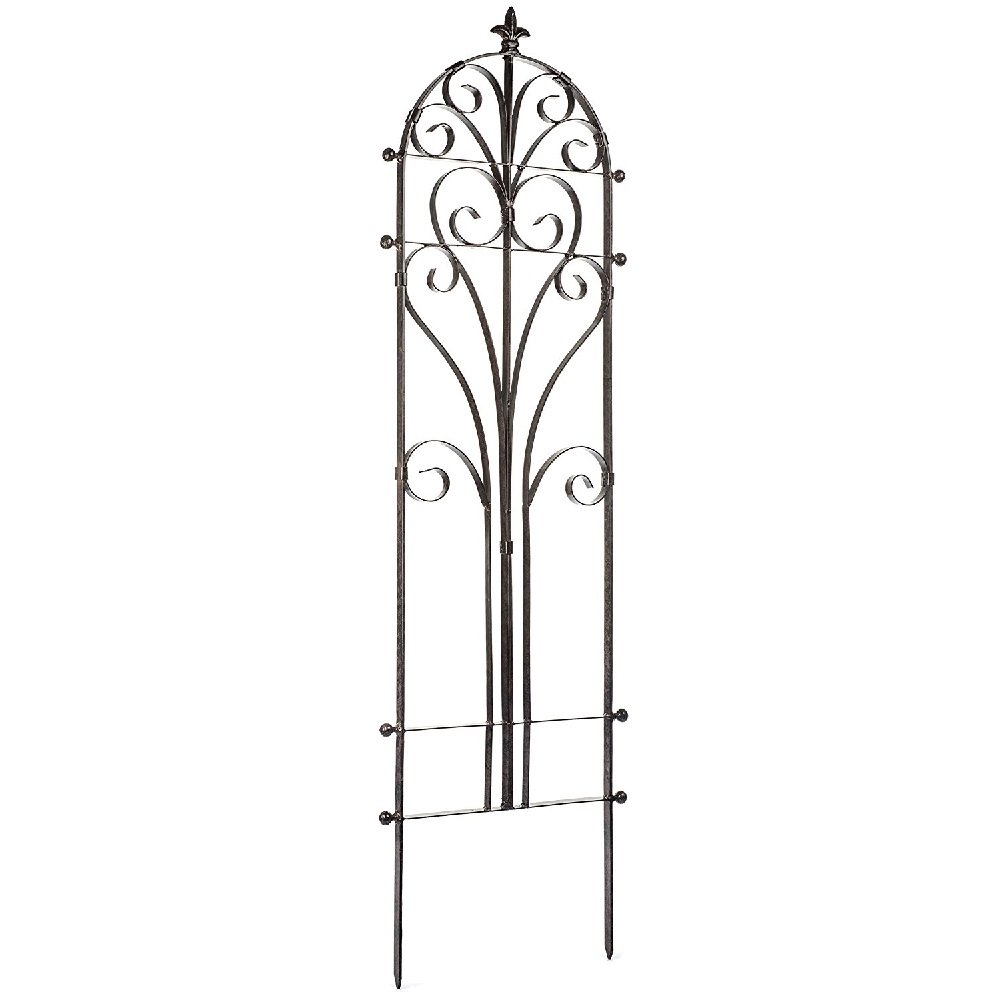 Garden Iron Trellis Italian Durable Elegant Metal Trellis Lawn Decor With Powder Coat Finish- Hand Cut Heavy Scroll Iron Easy To Stake No Assembly Needed All Weather Yard Art Large - Skroutz Deals