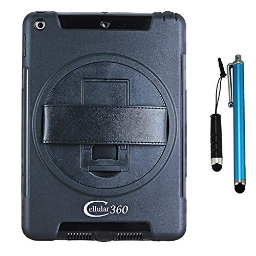 Cellular360 Drop Proof Case for iPad 9.7 2018, iPad 6th Gen, iPad 9.7 2017, iPad 5th Gen, Handy Case with a 360 Degree Rotatable Kickstand and Handle (Black)