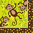 Creative Converting Monkeyin' Around Lunch Napkins, 16 Count