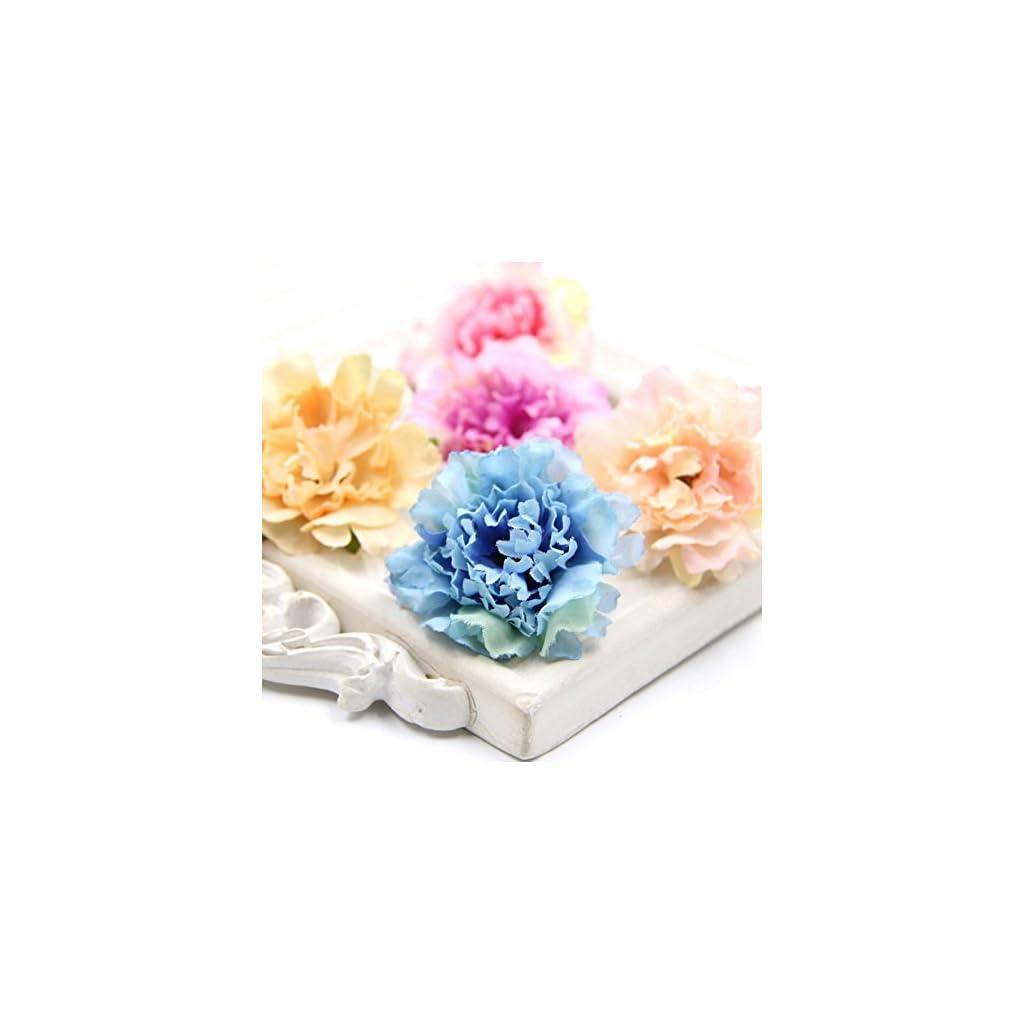 40PCS-5CM-Decorative-Flowers-Artificial-Silk-Flowers-Carnation-Flower-Heads-For-Home-Garden-Wedding-Party-Decoration