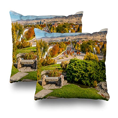 Soopat Decorative Throw Pillow Cover Square Cushion 18
