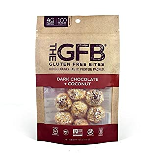 The GFB Gluten Free, Non GMO High Protein Bites, Dark Chocolate Coconut, 4 Ounce