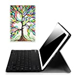Fintie iPad Pro 9.7 Keyboard Case - [Blade X1] Ultra Slim SmartShell Standing Cover with Magnetically Detachable Wireless Bluetooth Keyboard for Apple iPad Pro 9.7 inch (2016 Version), Love Tree
