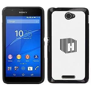 EJOY---Cubierta de la caja de protección para la piel dura ** Sony Xperia E4 ** --cubo de H raya