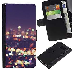 All Phone Most Case / Oferta Especial Cáscara Funda de cuero Monedero Cubierta de proteccion Caso / Wallet Case for Sony Xperia Z3 Compact // luces horizonte de la ciudad de desenfoque noche brillante