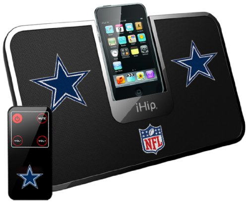 iHip Official NFL - DALLAS COWBOYS - Portable iDock Stereo Speaker with Wireless Remote - 2012 Bowl Indianapolis Super