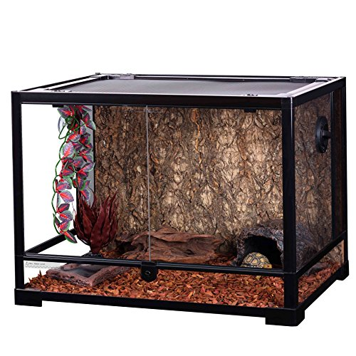Oiibo Knock Down Glass Reptile Terrarium 24x18x18 Inch (Medium, Wide 24'' x 18'' x 18'') by Oiibo