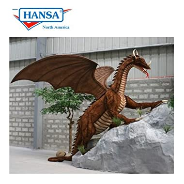 Hansa Plush Life Size Great Dragon - 9.5 Ft Long, 8 Ft Tall