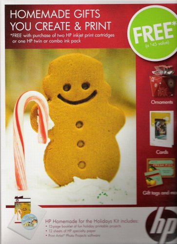 """HP Printable Photo Projects """"Homemade for the Holidays"""" Complete Projects Kit ()"""