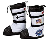 Aeromax Astronaut Boots, Size Large, White, with NASA patches