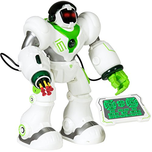 Best Choice Products Intelligent Remote Control RC Robot Talking Walking Shooting Light & Music Action Toys White