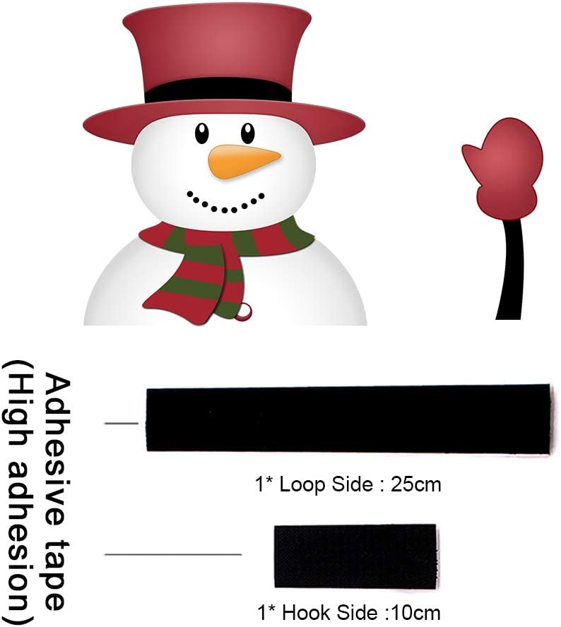 MIYSNEIRN Christmas Rear Wiper Decal Sticker Santa Wiper Decal Tag Wiper Decals Cover Santa Waving Wiper Decal Tags for Rear Window Windshield Wiper Sticker Car Window Stickers and Decals YueMu