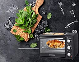 Timer Kylewo 12L mini oven with crumb tray Double glass door Mini Pizza Oven pizza oven Mini oven Oven