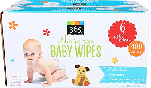 365 Everyday Value, Baby Wipes Refill Size, 80 Count, 6 pack