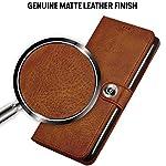 TheGiftKart Genuine Leather Finish Xiaomi Mi 11X / Mi 11X Pro Flip Back Cover | Inbuilt Pockets & Stand | Wallet Style…