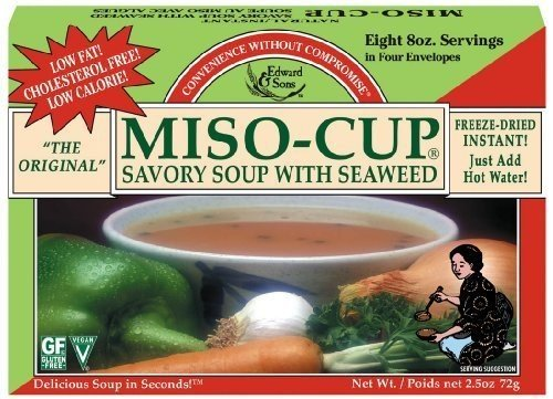 Edward & Sons Miso-Cup With Seaweed ( 12x2.5 OZ) ( Value Bulk Multi-pack) by Edward & Sons