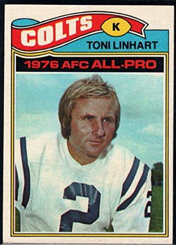Football NFL 1977 Topps #190 Toni Linhart AP Colts (1977 Topps Card Colts)