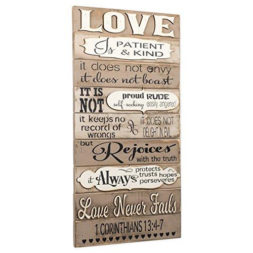 1 Corinthians 13 Love Is Patient 16 X 32 Inch Wood Art Sign Plaque