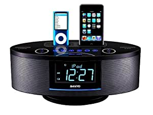 Sanyo DMP-692 Dual Dock Music System for iPod and iPhone (Black)