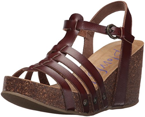 Blowfish Womens Humble Platform Sandal Whiskey Dyecut Polyurethane BPPedjxlu