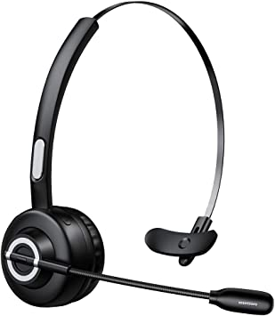 Zeonetak Auricular Bluetooth Micrófono Inalámbrico, Auricular Profesional para PC, Auricular Inalámbrico Ligero para Manos Libres, Reducción de Ruido, Centro de Llamadas, Conductor de Camión: Amazon.es: Electrónica