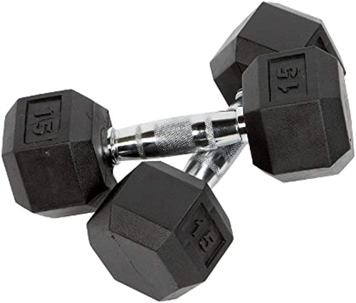 Premium Quality, Rubber Coated Hex Dumbbells for Strength Training and Fitness Sold in Pairs